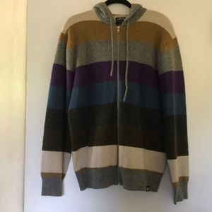 Other - Striped 100% lambswool hooded jacket